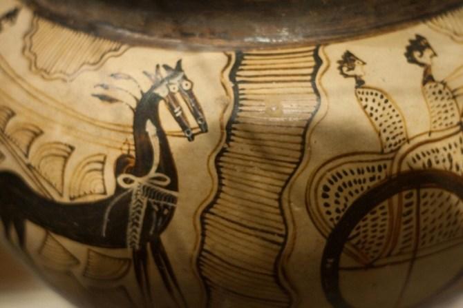 Mycenaean pottery detail