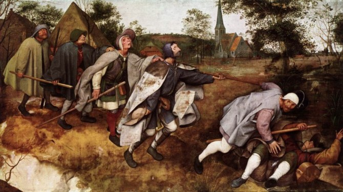 Blind leading the blind painting Bruegel