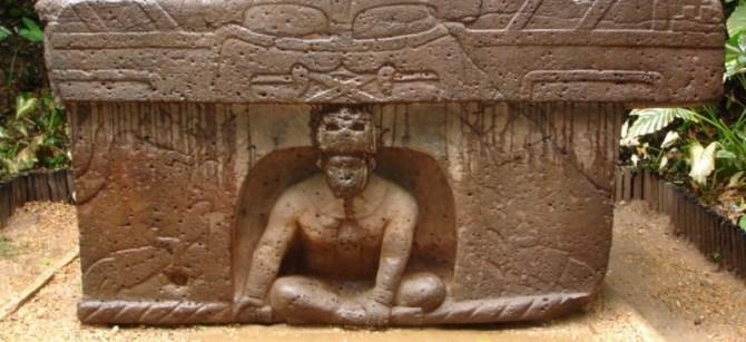 Olmec statue man