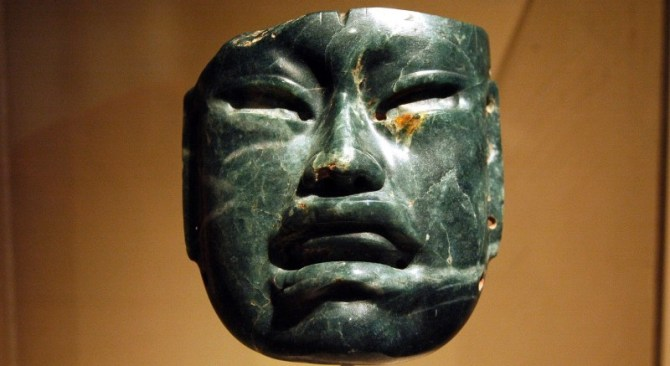 Olmec culture mask