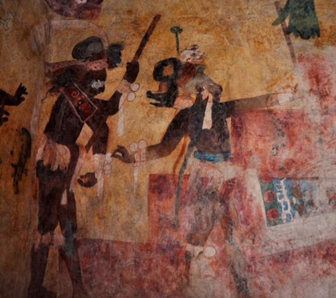 Maya fresco painting