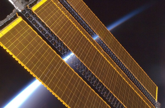 Solar cells satellite
