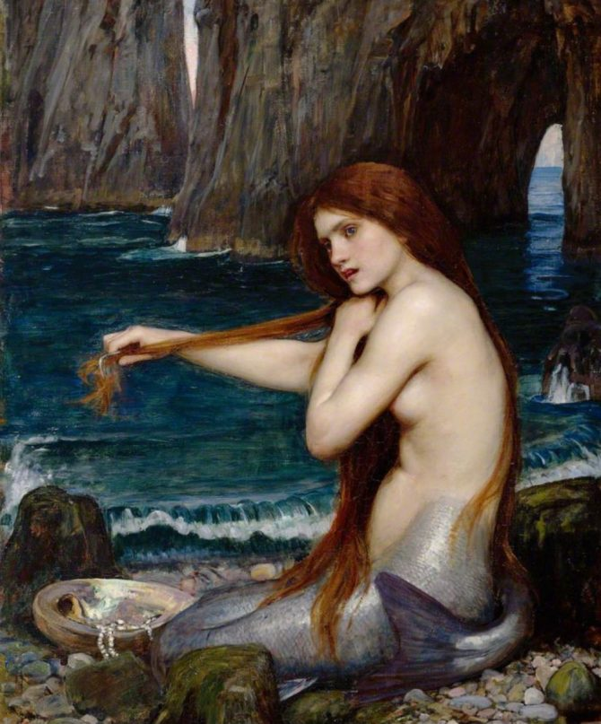 Waterhouse mermaid painting famous