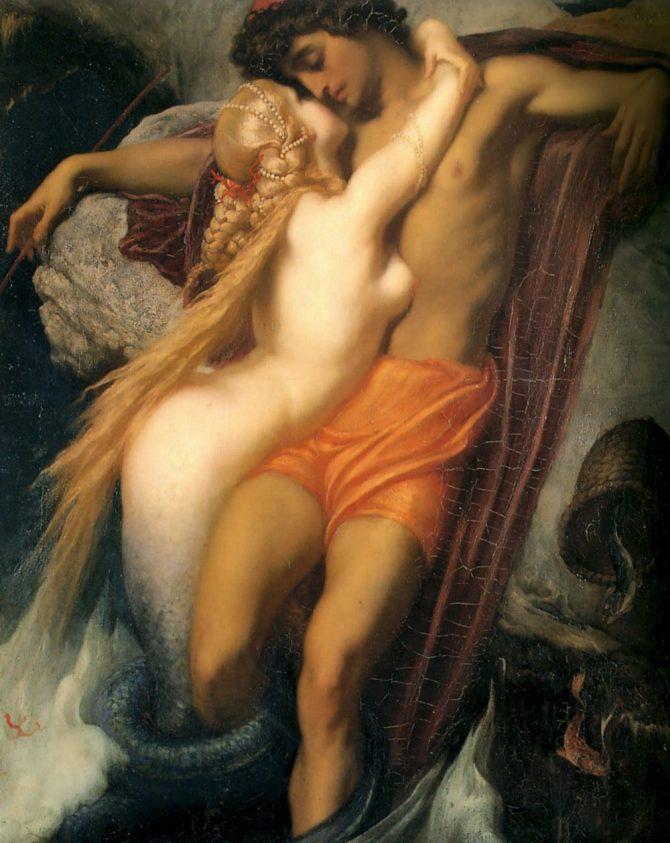 Mermaid painting Frederic Leighton
