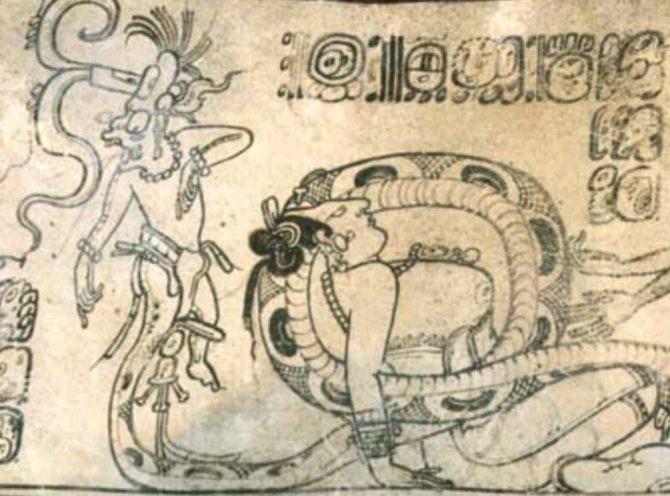 Snake leg Tezcatlipoca
