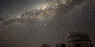 ESO VLT Laser taking Milky Way photo