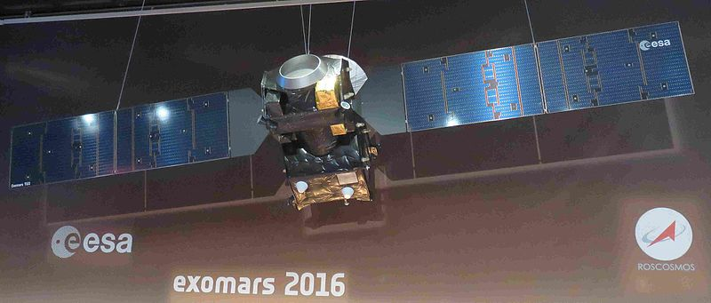 ExoMars Trace Gas Orbiter Model at ESOC