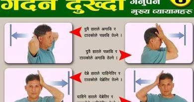 गर्दन दुख्दा गर्नुपर्ने व्यायामहरु