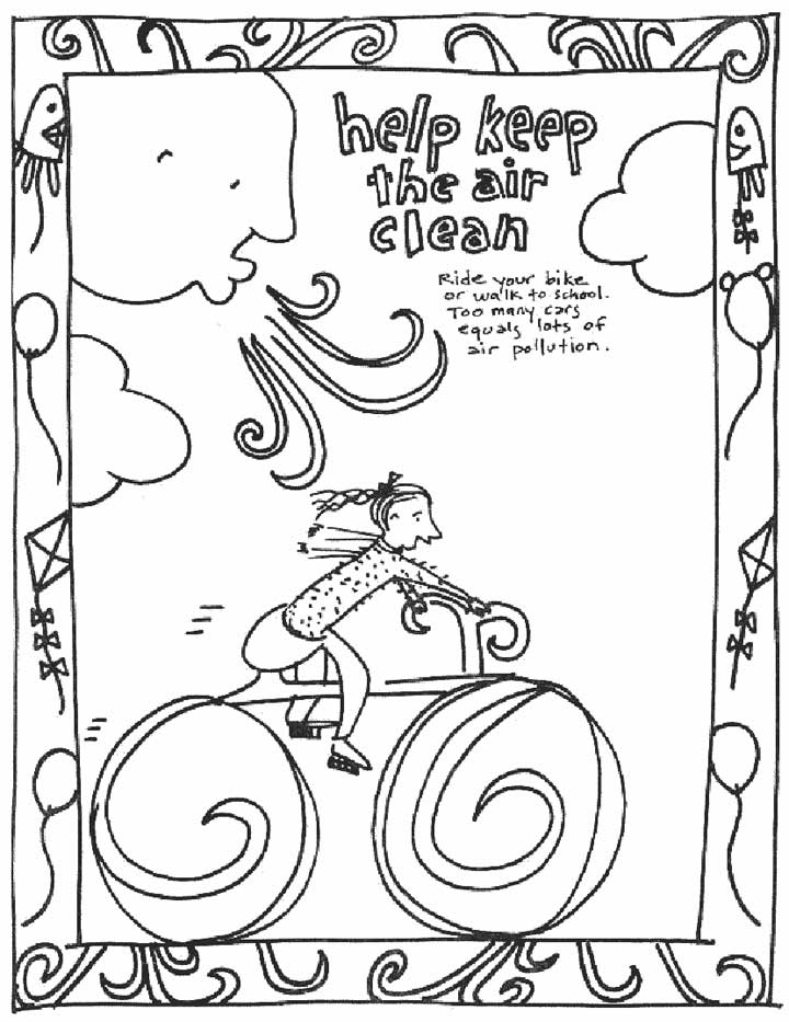 Air Pollution Coloring Pages Sketch Coloring Page