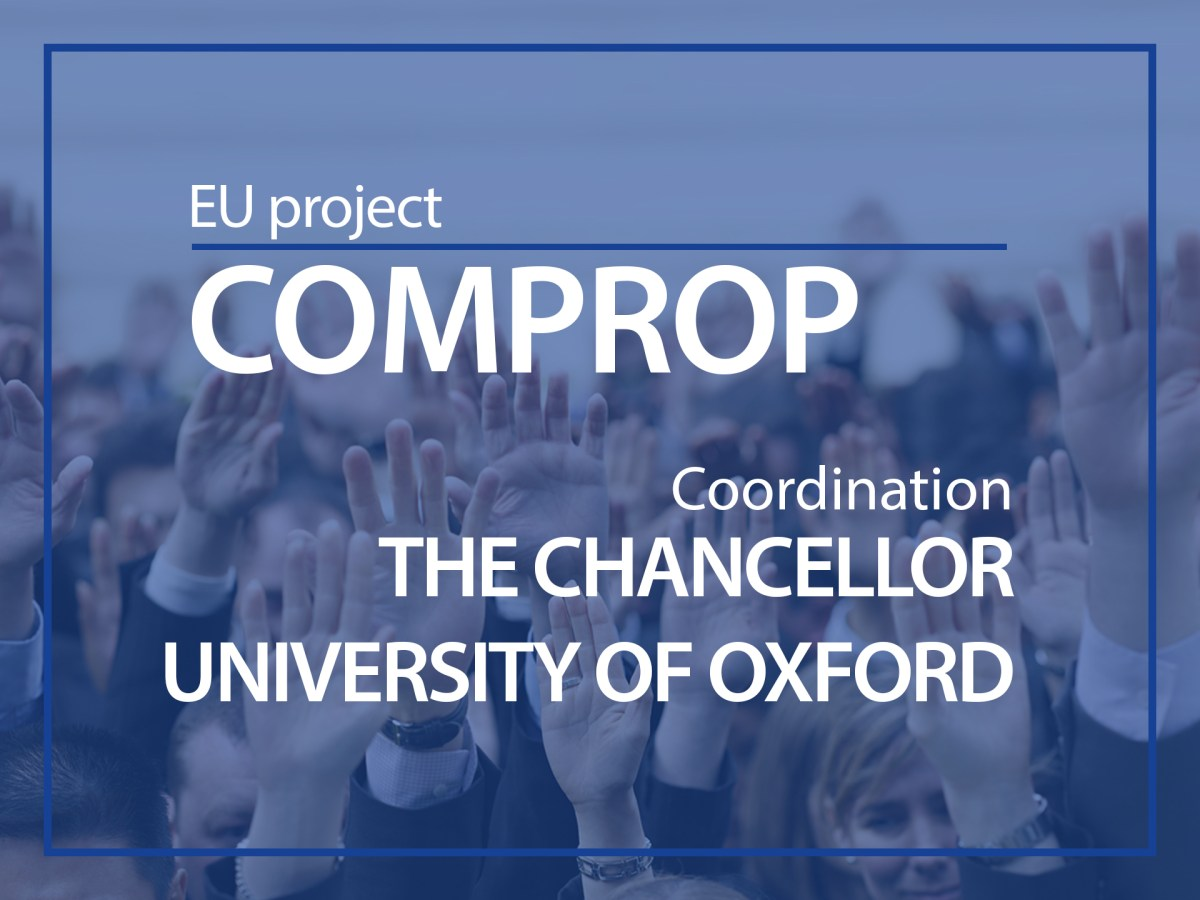 EU-project COMPROP coordination the chancellor, University of Oxford