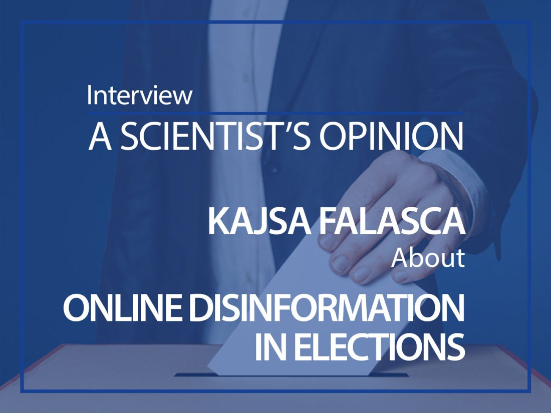 A scientist's opinion Kajsa Falasca about online disinformation in elections ESMH interview