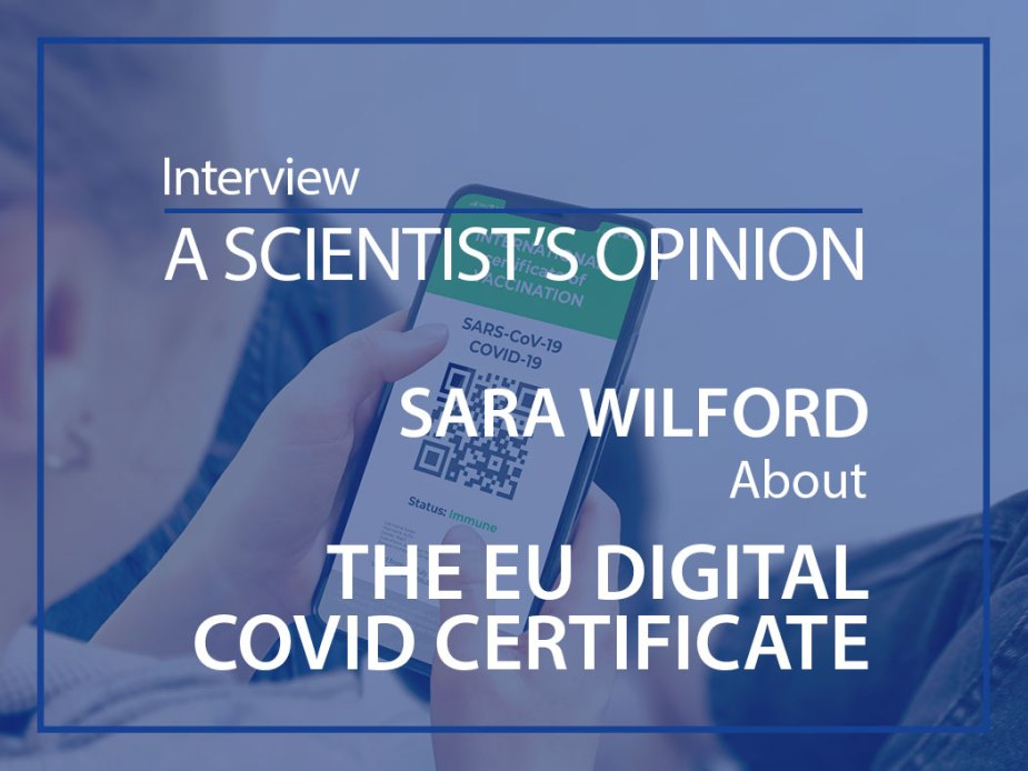 COVID-19 Digital green certificates on Cellphone Screen. Young Girl Takes Smartphone with Vaccinated digital health passport