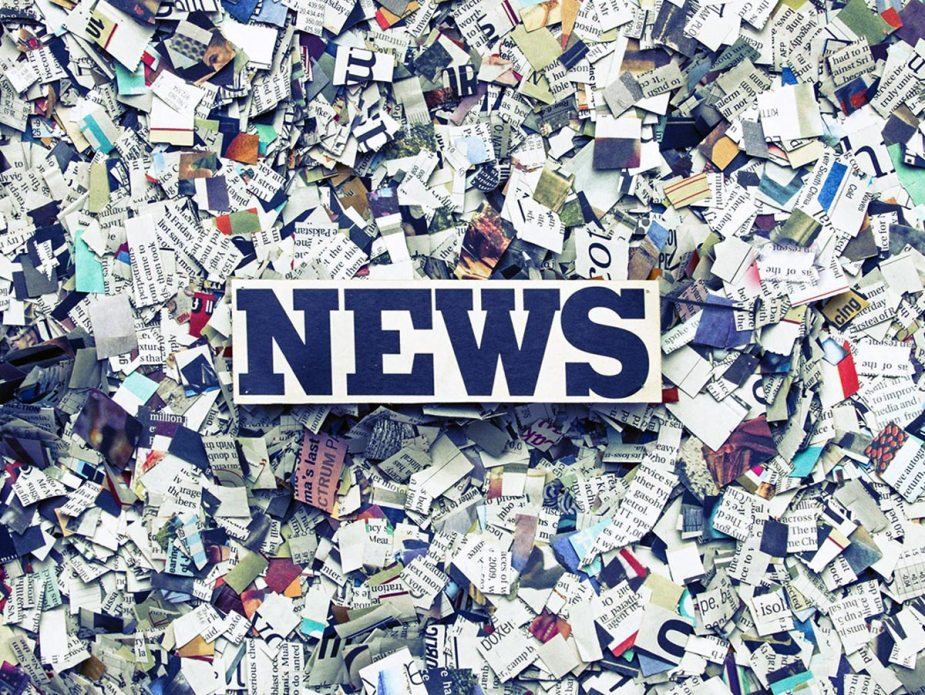 Cutted newspapers background, newspaper concept