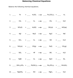 Balancing Chemical Equations Worksheet [ 6600 x 5100 Pixel ]