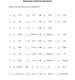 How to Balance Equations - Printable Worksheets [ 2200 x 1700 Pixel ]