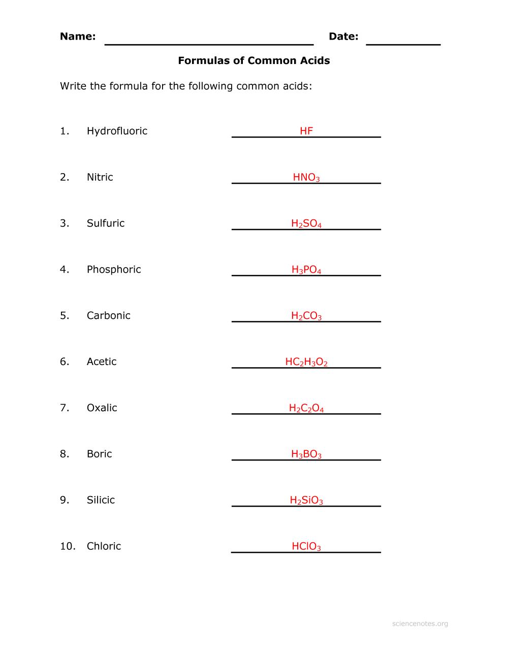 medium resolution of 25 Chemical Formulas And Nomenclature Worksheet - Worksheet Resource Plans