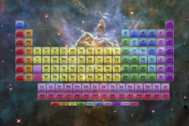 Hubble Stars And Nebula Table This Is A Jpg Image File That Prints To Make Large Colorful Periodic Poster