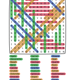 Rocks and Minerals Word Search [ 1584 x 1224 Pixel ]