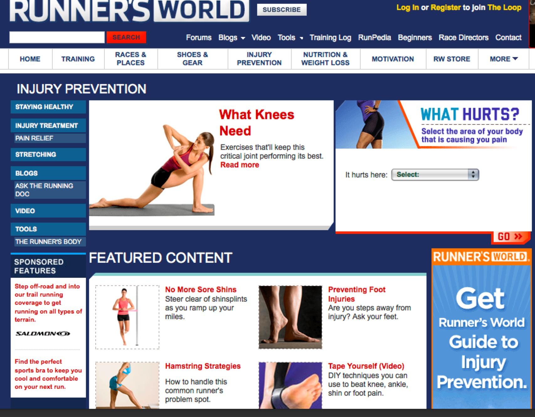 Runner's World Injury Prevention