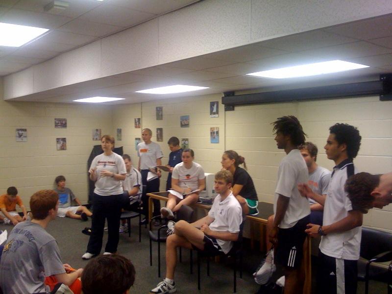 Princeton Squash Camp Coaches - June 2009