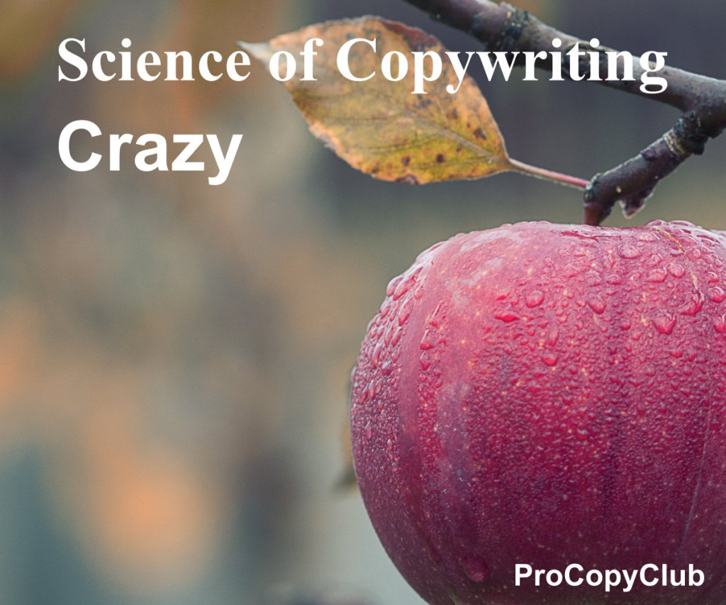 crazy and copywriting - image of apple