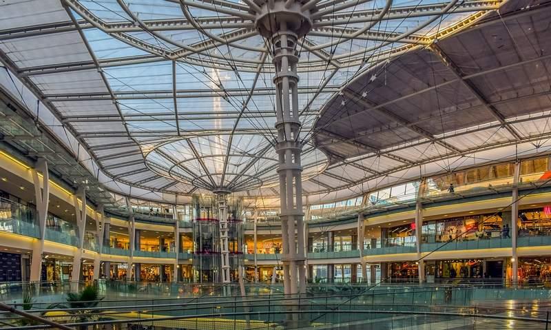 Shopping center design