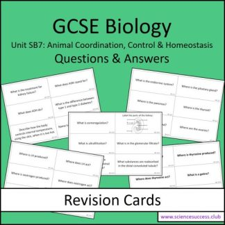 Screenshots of the Edexcel Biology SB7 resource