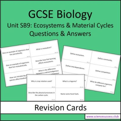 Screenshots of the Edexcel Biology SB9 resource