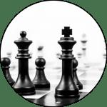 Photograph of a chess set