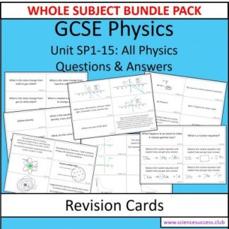 Screenshots of the Physics SP1 to 15 resource