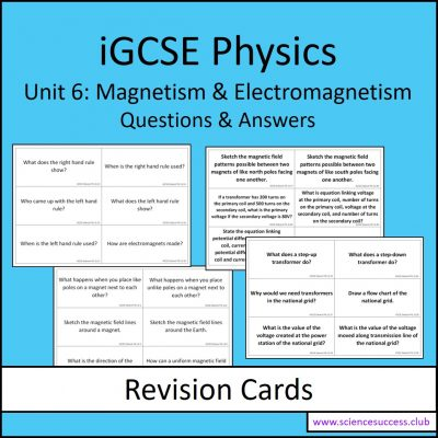 Screenshots of the iGCSE Unit 6 resource