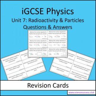 Screenshots of iGCSE Unit 7 resource