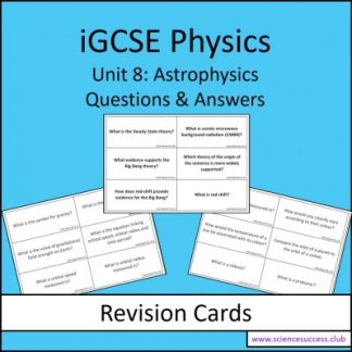 Screenshots of the iGCSE Unit 8 resource