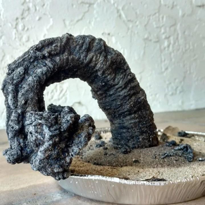 carbon sugar snake experiment