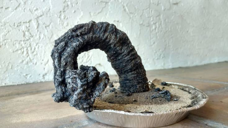 1 2 Make a giant carbon sugar snake - fun science experiment