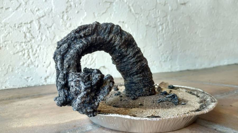 carbon sugar snake science experiment