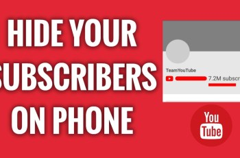 hide subscriber on youtube