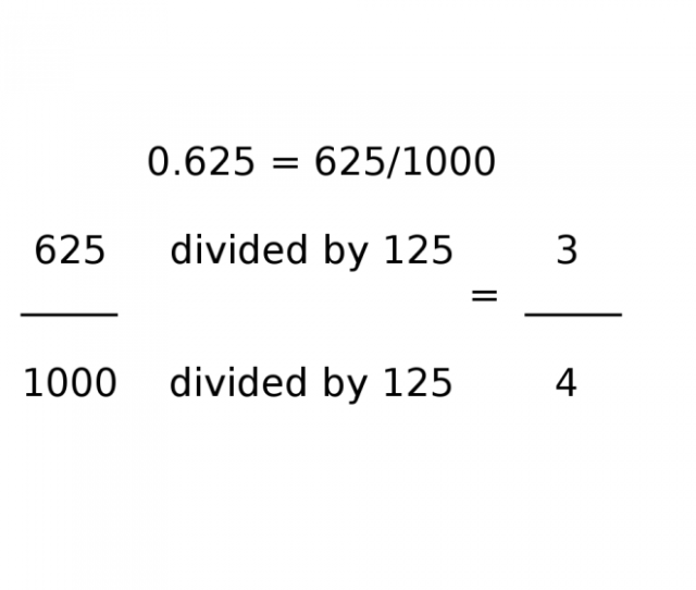 How To Calculate 0 625 As A Fraction Photo My Own