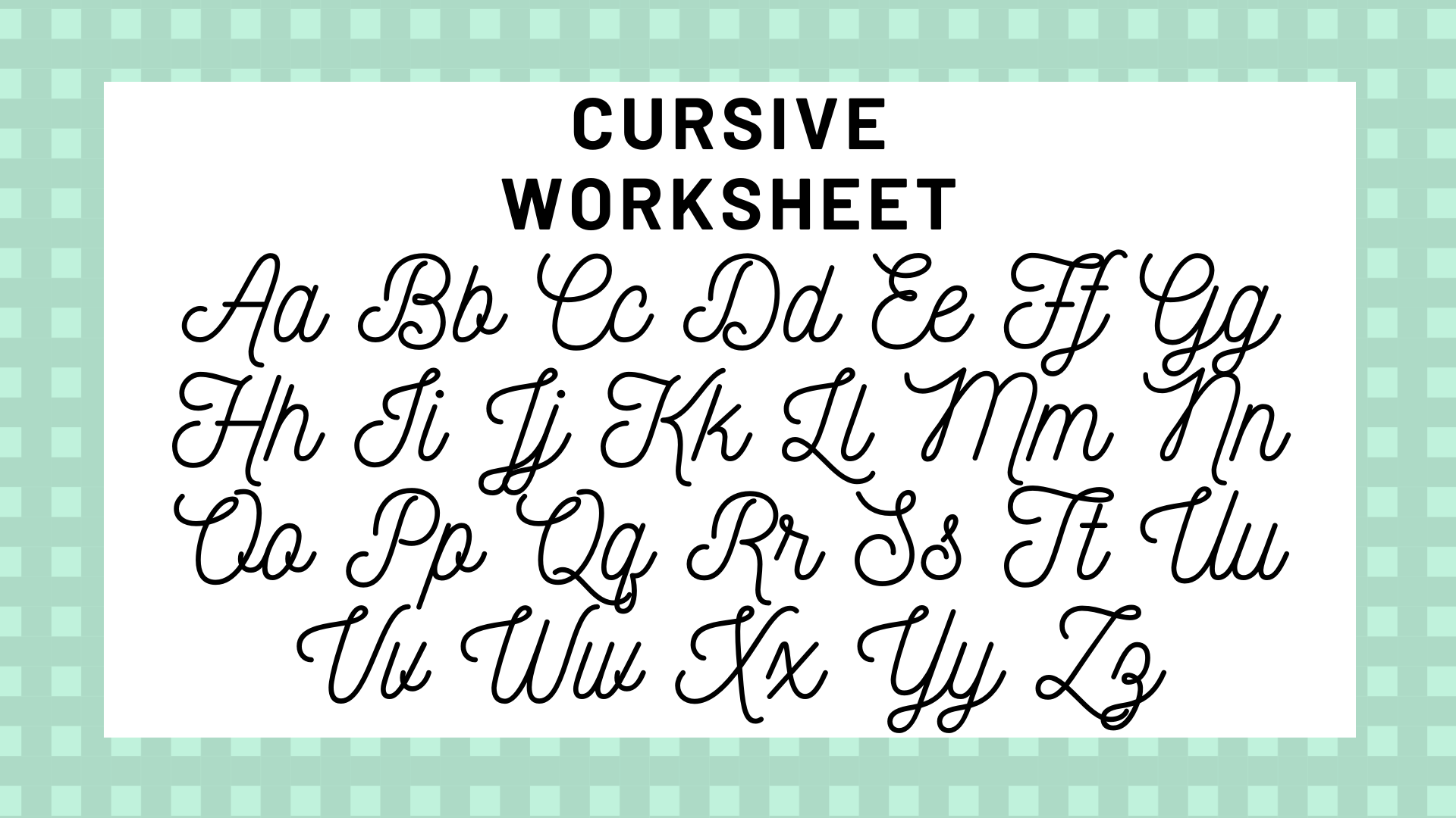 Cursive Alphabet Your Guide To Cursive Writing
