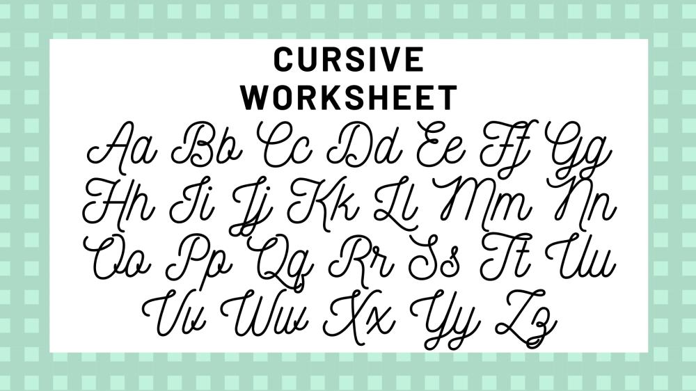medium resolution of Cursive Alphabet: Your Guide To Cursive Writing   Science Trends