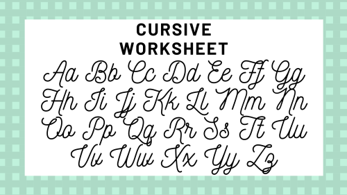 small resolution of Cursive Alphabet: Your Guide To Cursive Writing   Science Trends