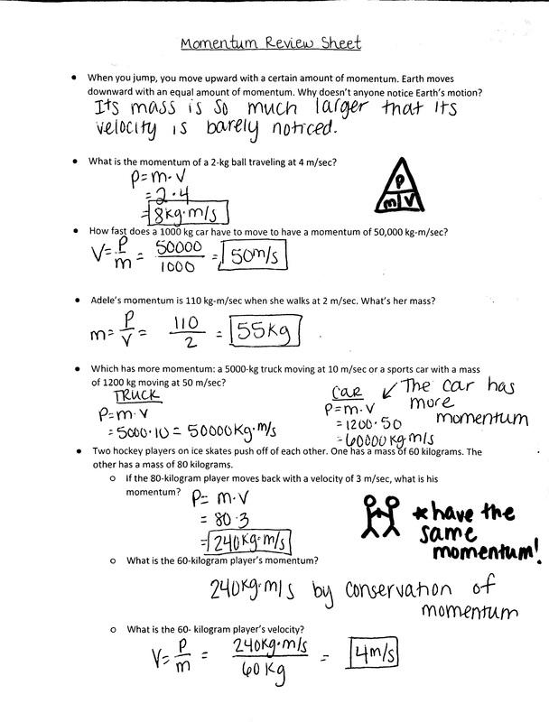 Momentum Worksheet Answer Key. Worksheets. Ratchasima