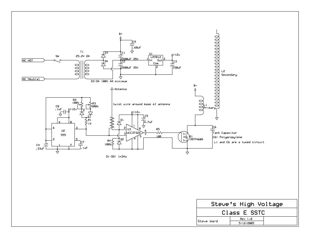 medium resolution of above is the schematic of the coil but you can also find it on steve ward s website