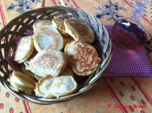 Lavender syrup and drop scones, the perfect combination