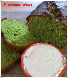 Spinach cake ... yep it was GREEN!