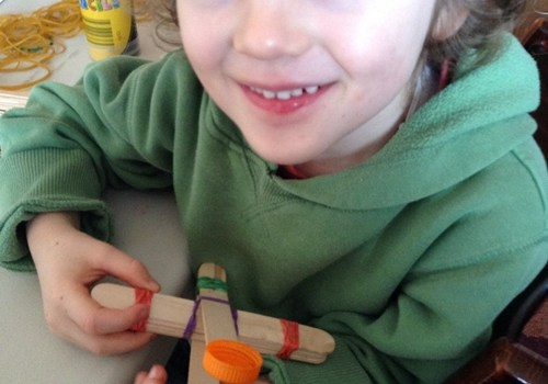 Fun Friday – Rubber Band Experiments – make a paper rocket and a catapult
