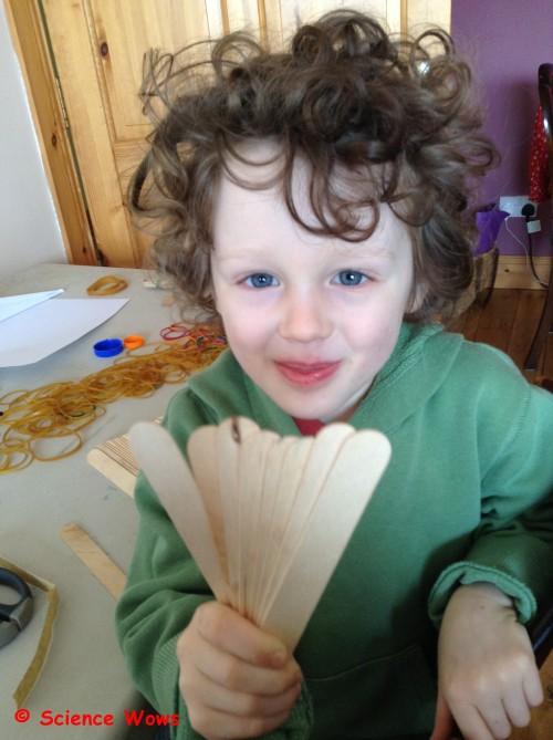 We found six to eight sticks work best