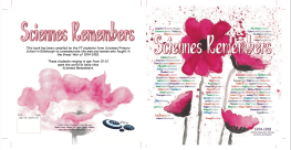 Cover Scienes Remembers