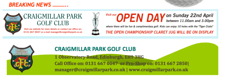 Craigmillar Park Golf Club Open