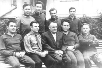 С.П. Королев с первым отрядом космонавтов